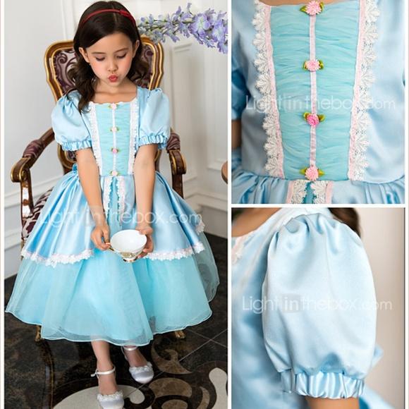 e50c3127e2e Light In the Box Other - Blue Ball Gown Tea-length Flower Girl Dress